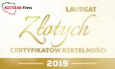 Otrzymaliśmy Złoty Certyfikat Rzetelności 2019